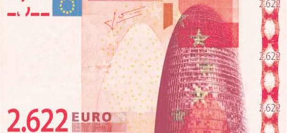 un billet de banque en euros