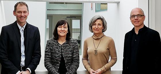 Die vierköpfige Geschäftsleitung ad interim: Thomas Werder Schläpfer, Rosemarie Pécaut, Angelika Kalt, Pierre Willa (v.l.n.r.)
