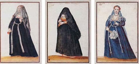 Frauen mit Schleier © Yale University, Beinecke Library, Ms. 457