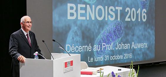 Johan Auwerx, Träger des Preises Marcel Benoist 2016.