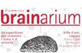 Dieses Bild zeigt das Plakat der Ausstellung brainarium mit der Abbildung eines menschlichen Gehirns. © brainarium