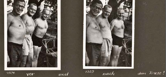 This picture shows friends in front of the camera © Swiss National Museum