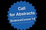 Cette image montre le logo de ScienceComm'14. © ScienceComm