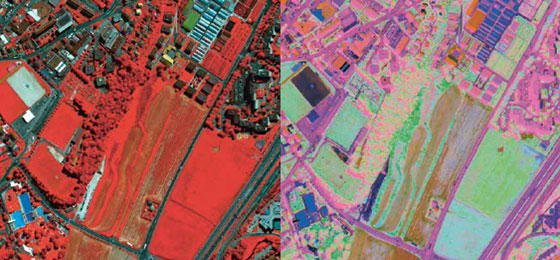 des surfaces de la terre par des satellites © SwissTopo