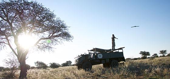 Drohnenstart in Namibia