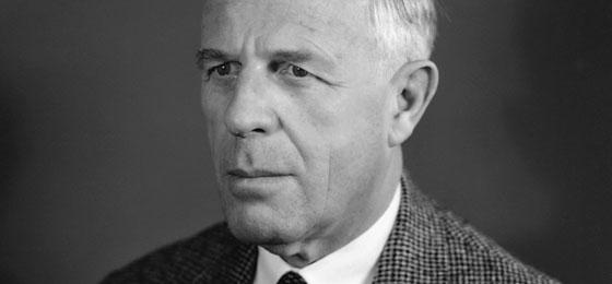 Un portrait d'Alexander von Muralt, fondateur du FNS.