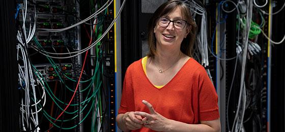 Das Bild zeigt Anne Verhamme, Gewinnerin des Marie Heim-Vögtlin-Preises 2019.