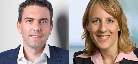 Neue Mitglieder der SNF-Geschäftsleitung: Sébastien Stampfli und Céline Liechti.